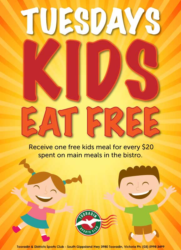 Tuesdays-Kids-Eat-Free-Tooradin
